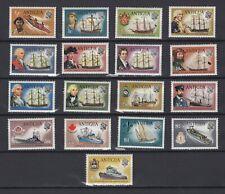 ANTIGUA 1970, Sc# 241-257, CV $40, Ships, Navy, Sailing, MH