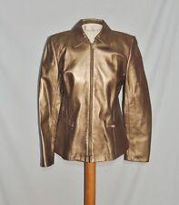 Wathne Metallic Bronze Leather Jacket sz 4 NWT
