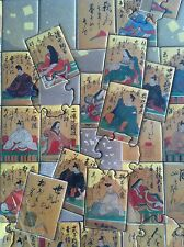 Hyakunin Isshu Karatu Game Japenese Kasene Art Classical Ocho Jigsaw Puzzle