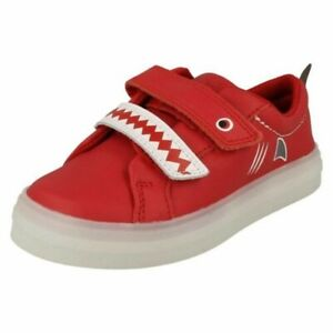 Boys Clarks Flare Scale Lo T Shark Detailed Light Up Shoes