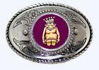 ROJ Mirth  King Billiken Lucky Charm Masonic Fraternal Shriner Belt Buckle USA