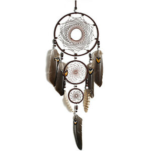 Handmade Dream Catcher With Feathers  Wall Hanging Decor Ornament Gift Large