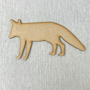 Fox Wooden MDF Shape Sizes 10cm - 40cm Animal Woodland Creatures Craft
