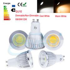 Dimmable GU10 6W 9W 12W LED COB Ampoules Lampe Downlight Bulb Spot Lumière 220V