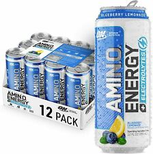 Optimum Nutrition Amino Energy + Electrolytes Sparkling Hydration Drink, 12 Pack