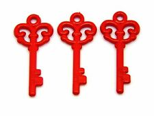 30 Pcs - 61mm Red Opaque Santa Door Key Acrylic Magic Xmas Key Christmas