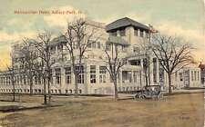 Asbury Park New Jersey Metropolitan Hotel Street View Antique Postcard K55597