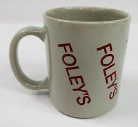 Vintage 1980's Foley's Department Store Employee Mug  (Bankrupt Company)