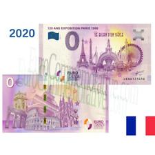 75 - Billet Touristique Euro Souvenir '' 120 Ans Exposition Universelle Paris ''