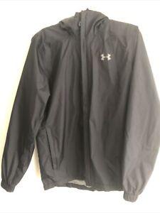 Under Armour Mens Black Hooded Waterproof Lightweight Jacket Small
