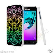 MANDALA Arcobaleno Design Hard Case Cover per Samsung Galaxy J3 (2016)