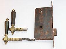 Bec Cane style art déco laiton Horn poignées avec encadré Château #5