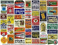 Railroad Model Billboard Signs, Huge Set, 245 Oil, Farm and Advertising Signs