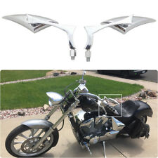 Motorcycle Chopper Cruise Bobber Chrome Blade Side Mirrors 8/10mm For Honda Fury