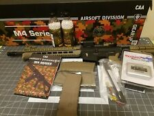 """New listing Command Arms Airsoft CAA M4 12"""" Airsoft AEG Rifle-- Lots of EXTRAS++ HUGE BUNDLE"""