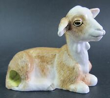 Goat Ceramic Figurine - Brown & White John Beswick Boxed
