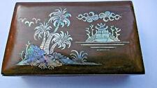 boite a bijoux avec incrustations nacre sur bois