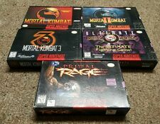 Mortal Kombat 1 2 3 Ultimate Primal Rage CIB Lot Super Nintendo SNES Complete
