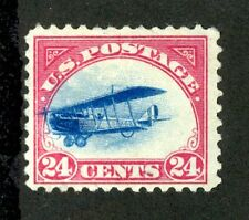 """#C3 Mint """"Fast Plane"""" Variety --  Blue Plane Touches Outer Red Frame Line!"""