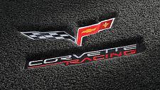 "LLOYD LUXE™ 1/2"" carpet pile Ebony FLOOR MATS 2005-2013 C6 Corvette Racing Logo"