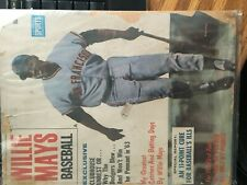 1963 WILLIE MAYS BASEBALL MAGAZINE SAN FRAN GIANTS VOLUME 1 NUMBER 1 FIRST ISSUE