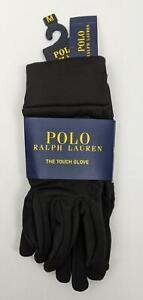 Polo Ralph Lauren Unisex Black Size Medium Classic Jersey Fleece I-Touch Gloves