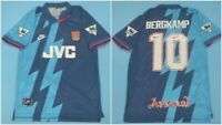 Vintage Arsenal Away Shirt 1995/1996 #10 Bergkamp Jersey Retro Netherlands Patch