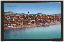 WWI-AUSTRIA-GERMANY-POSTACRD MARBURG-MILITARY CENSORSHIP MARBURG