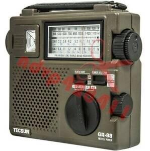 Tecsun GREEN-88 (GR-88P) Self-Powered Emergency Hand Crank Radio Receiver New
