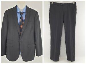 Calibre New Zealand Men's 2 Pieces Suit Sleek2 Wool/Poly Black Sz 102R SU01