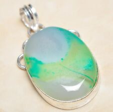 "Sterling Silver Pendant 2"" #P05593 Handmade Botswana Agate Onyx Jasper 925"