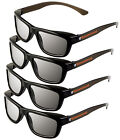ED Pack of 4 Sony TDG-500P Compatible Passive 3D Glasses eDimensional 3-D NEW