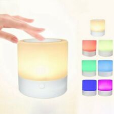 7 Colors LED Rechargeable Night Light Bedside Table Lamp Dimmable TouchCon New