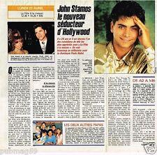 Coupure de presse Clipping 1990 (1 page 1/2) John Stamos