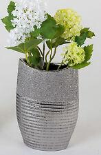 DECODIFICARE moderno vaso di fiori vaso in ceramica argento 15x24 cm