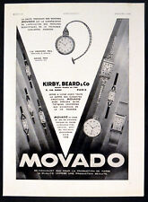 MOVADO 1930 Wrist and Pocket Watches FRENCH ADVERT