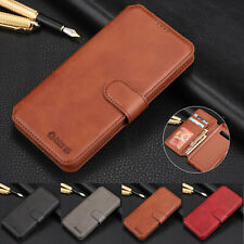For Samsung Note 8 9 10 Plus S10 S9 Mens Leather Magnetic Flip Wallet Case Cover
