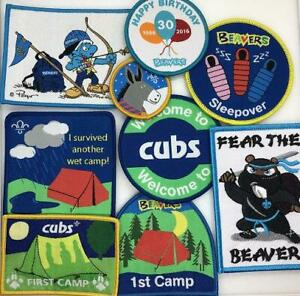 UK Scouts Beavers Cubs collectable cloth blanket badges Posted same day