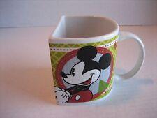 Disney Mickey & Minnie Mouse Half Circle Ceramic Coffee Mug/Cup 3 1/4 in T. New