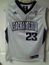 Vintage Adidas Sacremento Kings K Martin #23 Youth Med 10-12 Basketball Jersey