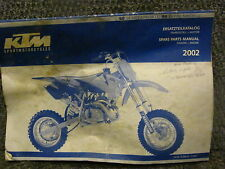 KTM 50SX 2002 Spare Parts Manual  SX 50 OEM Literature Pro Junior Senior LC SX50