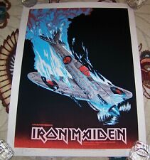 2017 IRON MAIDEN Gig Event Poster Tim Doyle Signed Limited Edition Black Light