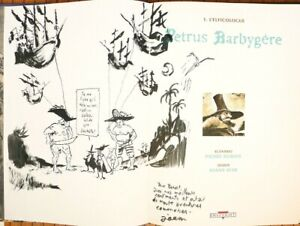 PETRUS BARBYGÈRE Dessin original de Joann SFAR en 1996 dédicace Chat du rabbin