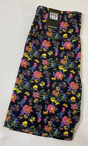 NWT Victorias Secret PINK Floral High Waist Cotton Bike Short Size Large