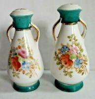 """Vintage Made in Japan Floral Vases Salt And Pepper Shaker Set Japan 2.5"""""""