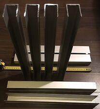 8x U-Einfassung für Aluminium -Bordwände mit 25mm Stärke