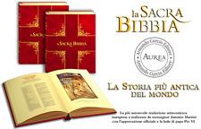 LA SACRA BIBBIA IN 2 TOMI, TOMO I e II -  ESEMPL. N. 0590 - AUREA - CURCIO EDIT.