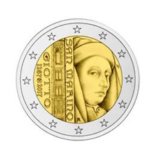 2 euro commémorative Saint-Marin 2017 BU – Giotto