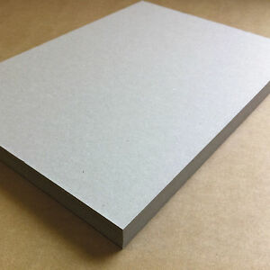 """A6 A5 A4 A3 A2+ 12""""x12"""" Greyboard 100% Recycled Thick Cardboard 1mm 1.5mm 2mm"""