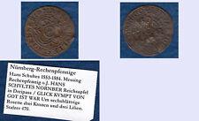 Hans Schultes Nürnberg Rechenpfennig gute Ausprägung Druckstellen ca. 1,65 g